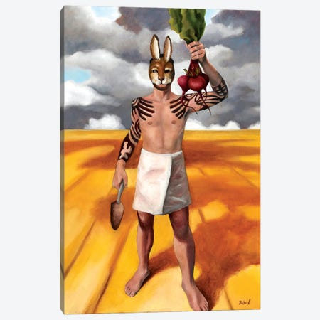 Hare Canvas Print #BOT61} by Sandra Bottinelli Canvas Art Print
