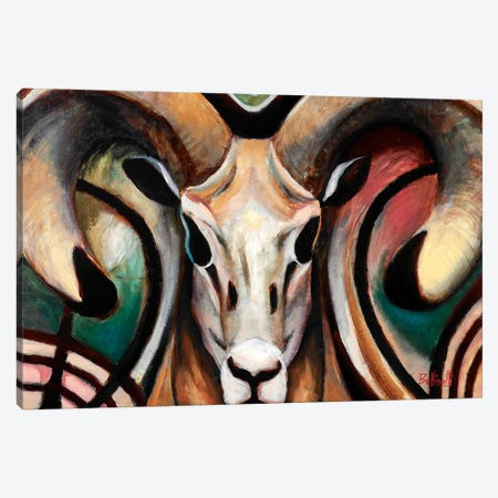 Ram Canvas Print #BOT68} by Sandra Bottinelli Art Print