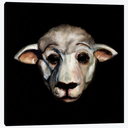Sheep Mask Canvas Print #BOT71} by Sandra Bottinelli Canvas Artwork