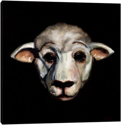 Sheep Mask Canvas Art Print