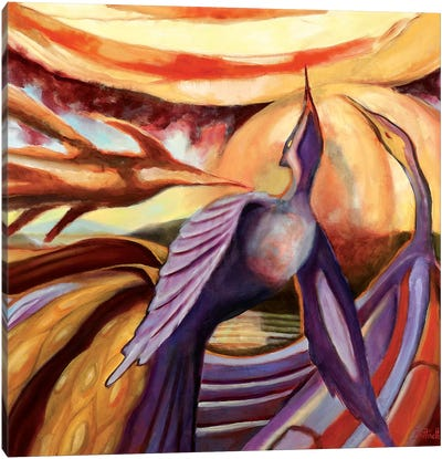 Stages Of A Phoenix Canvas Art Print