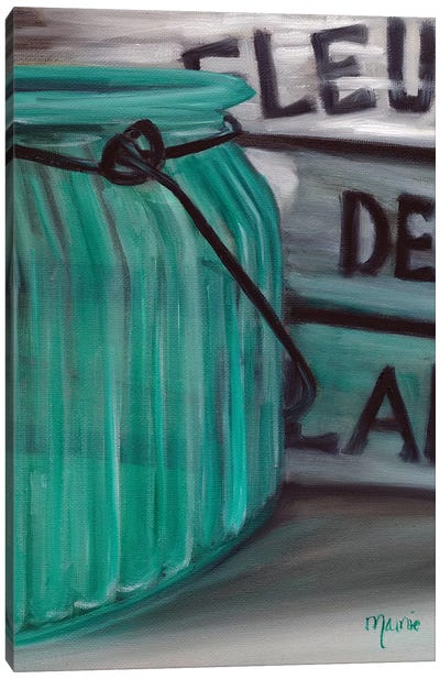 Blue Jar And Box Canvas Art Print