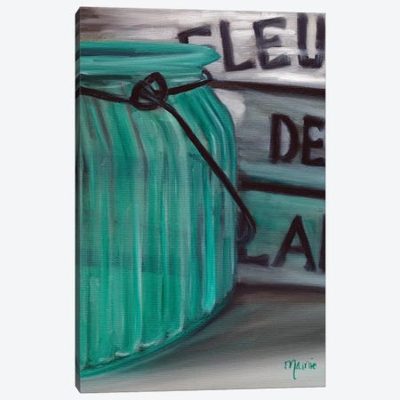 Blue Jar And Box Canvas Print #BOU10} by Marnie Bourque Canvas Print