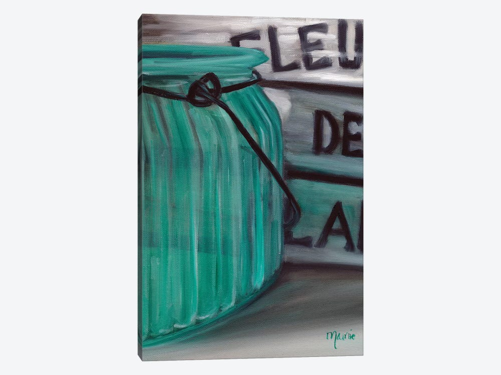 Blue Jar And Box by Marnie Bourque 1-piece Canvas Print