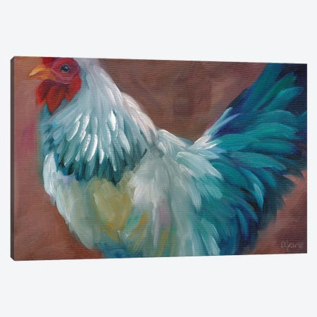 Blue Rooster Canvas Print #BOU11} by Marnie Bourque Canvas Art Print