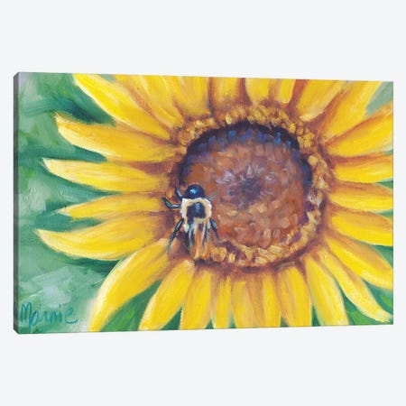 Busy Bee 3-Piece Canvas #BOU12} by Marnie Bourque Canvas Art Print