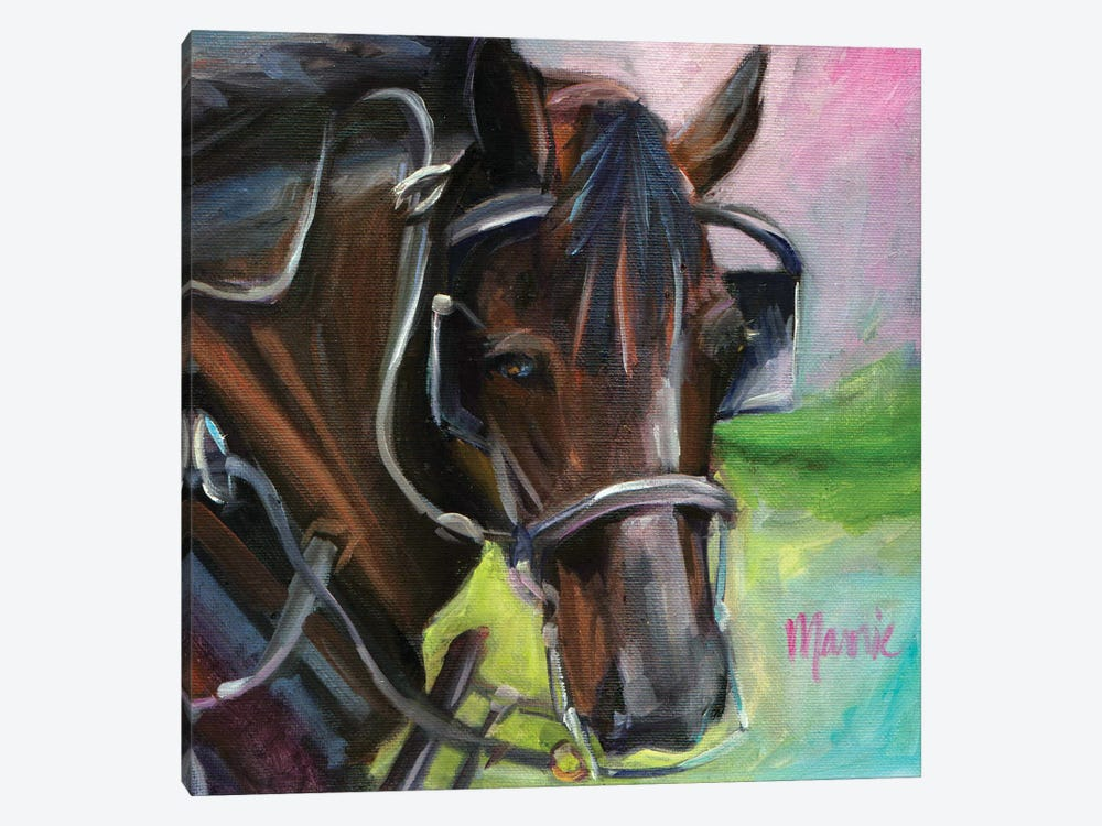 Charleston Working Horse 1-piece Canvas Art Print