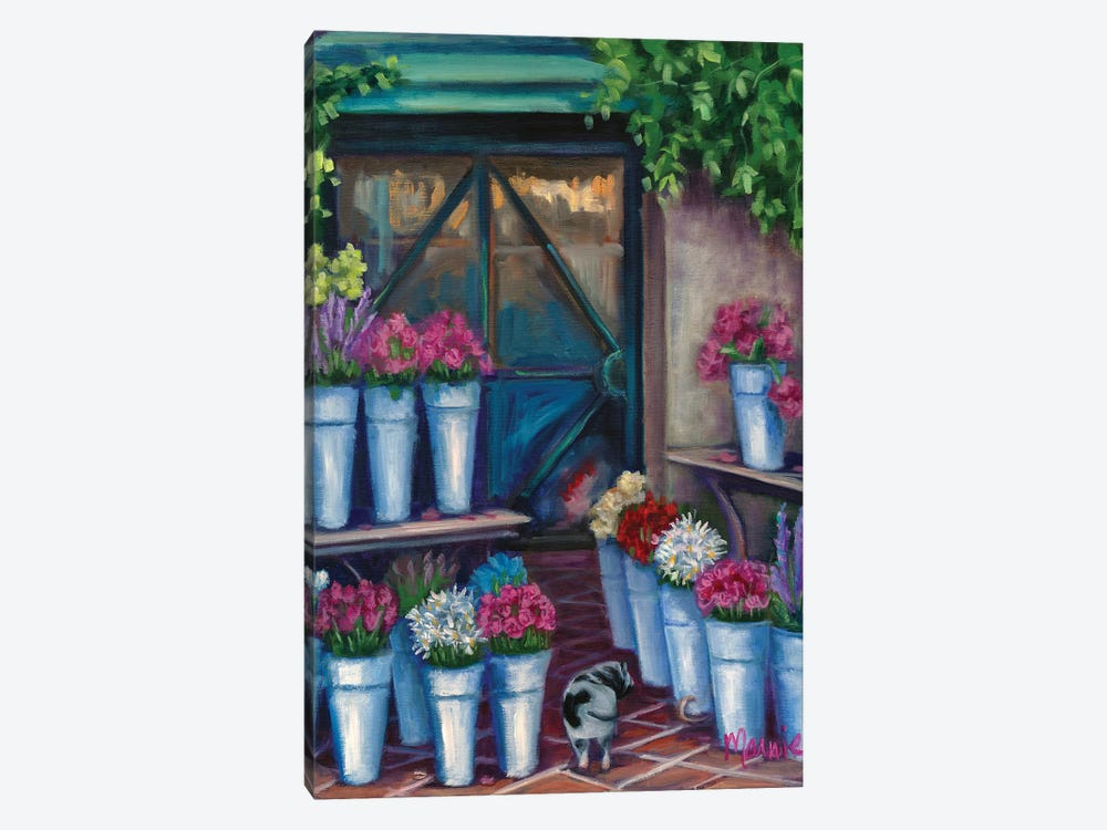 Daisy Flower Shopping by Marnie Bourque 1-piece Canvas Wall Art