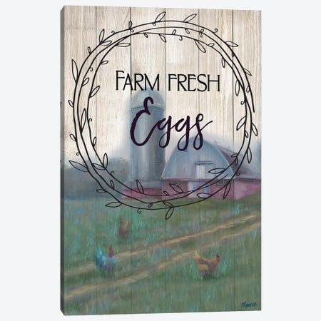 Farm Fresh Eggs, Circular Text Canvas Print #BOU24} by Marnie Bourque Canvas Art Print