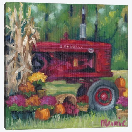 Farmall Fall Canvas Print #BOU25} by Marnie Bourque Art Print