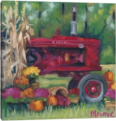 Farmall Fall Canvas Art Print