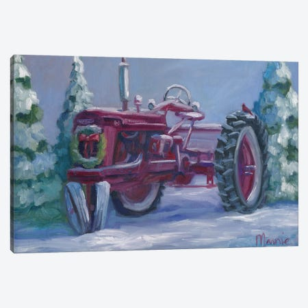 Farmall Fresh Snow Canvas Print #BOU26} by Marnie Bourque Canvas Art Print