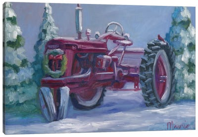 Farmall Fresh Snow Canvas Art Print