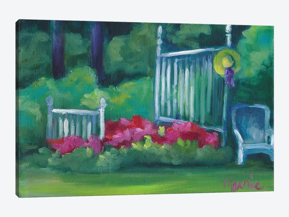 Flower Bed by Marnie Bourque 1-piece Canvas Wall Art