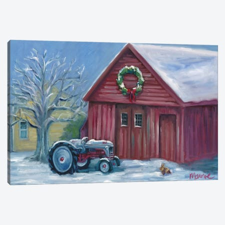 Fresh Snow Canvas Print #BOU33} by Marnie Bourque Canvas Art Print