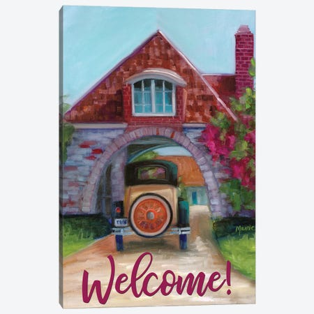Going Home, Text Canvas Print #BOU37} by Marnie Bourque Canvas Wall Art