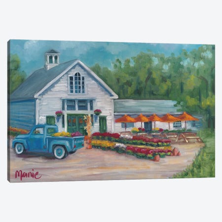 Harvest At The Farm Canvas Print #BOU39} by Marnie Bourque Art Print