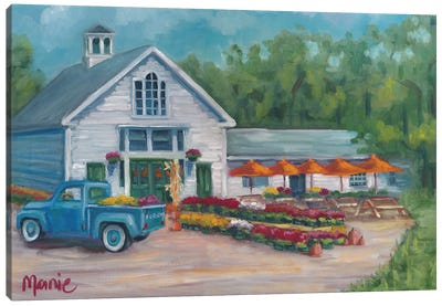 Harvest At The Farm Canvas Art Print