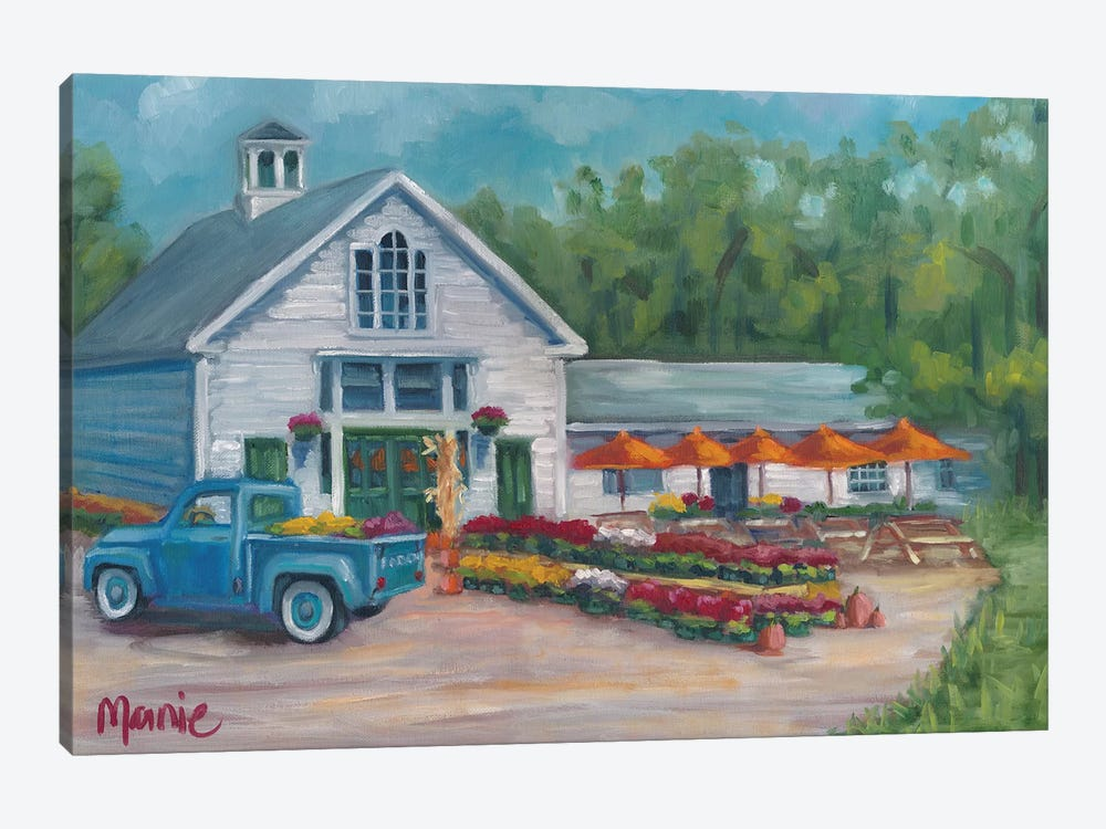 Harvest At The Farm by Marnie Bourque 1-piece Canvas Art