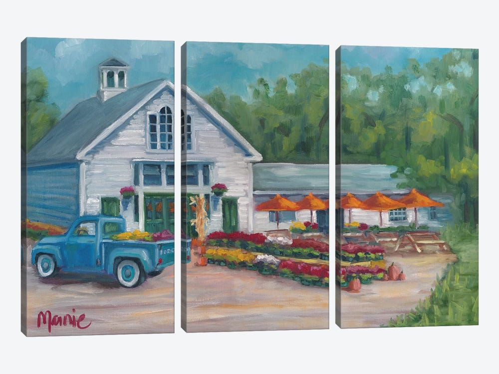Harvest At The Farm by Marnie Bourque 3-piece Canvas Art