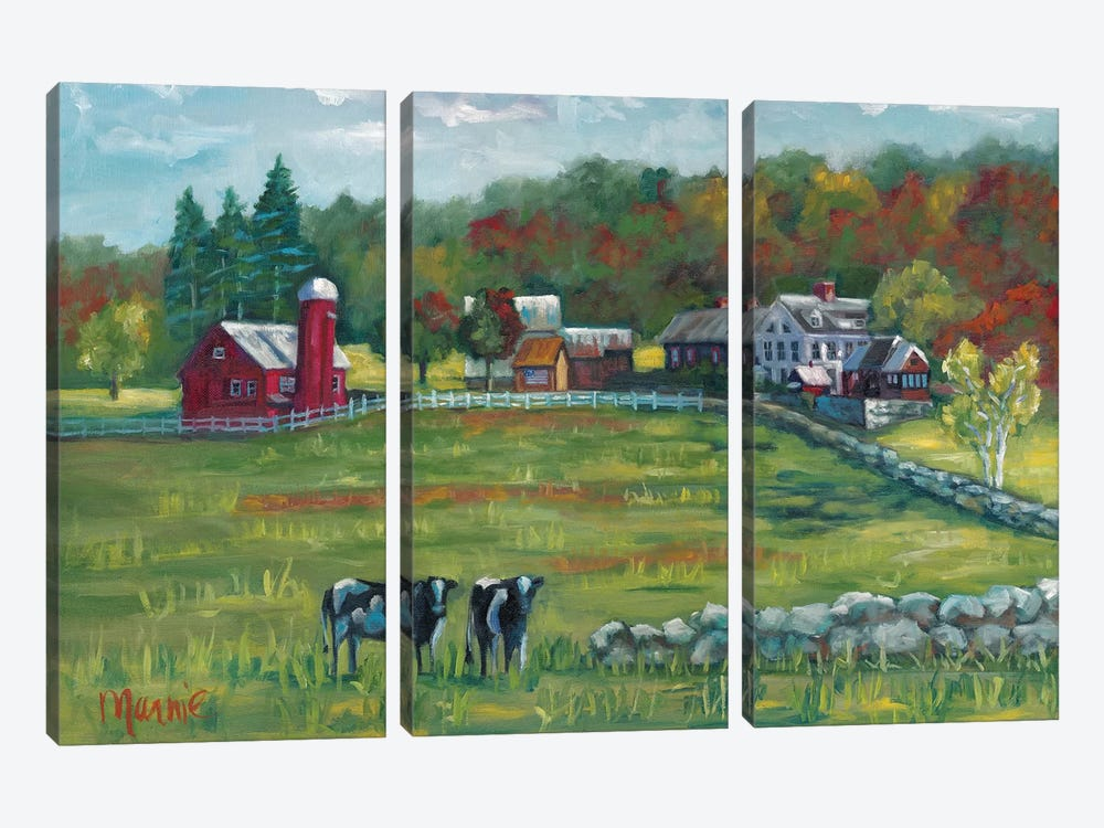 Hints Of Fall by Marnie Bourque 3-piece Canvas Art