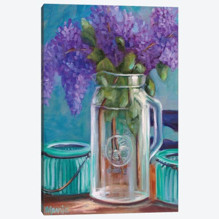 Homestead Lilacs Canvas Print #BOU41} by Marnie Bourque Canvas Wall Art