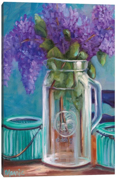 Homestead Lilacs Canvas Art Print