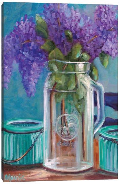 Homestead Lilacs Canvas Art Print