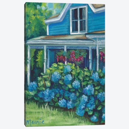 Hydrangea Riot Canvas Print #BOU44} by Marnie Bourque Art Print