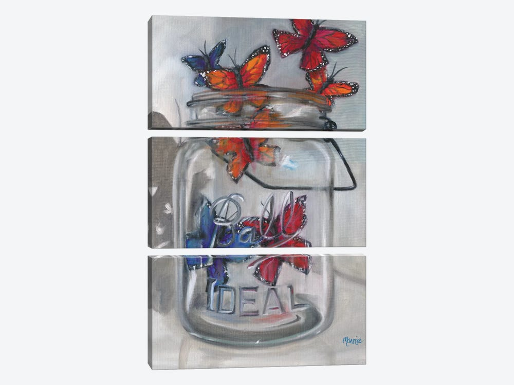 Jar Of Hope by Marnie Bourque 3-piece Canvas Artwork