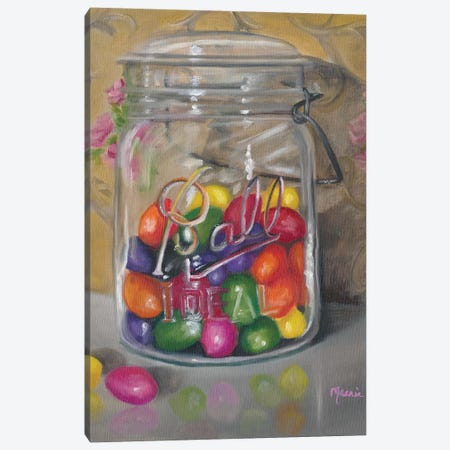 Jar Of Jellybeans Canvas Print #BOU47} by Marnie Bourque Art Print