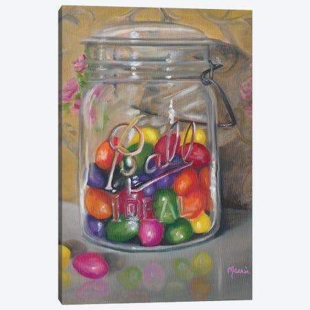 Jar Of Jellybeans Canvas Print #BOU47} by Marnie Bourque Art Print
