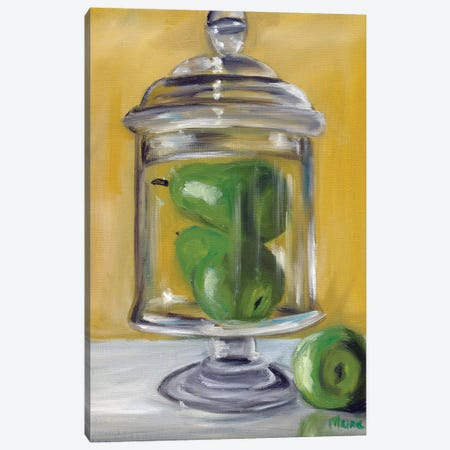 Jar Of Pears Canvas Print #BOU48} by Marnie Bourque Canvas Art