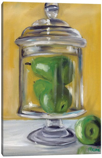 Jar Of Pears Canvas Art Print