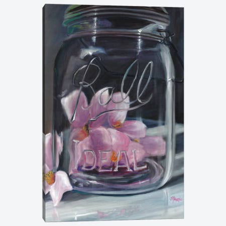 Jar Of Spring Canvas Print #BOU49} by Marnie Bourque Canvas Artwork