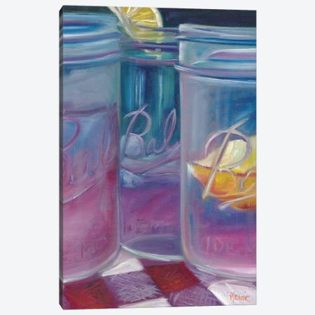 Lemonade, A Most Refreshing Drink 3-Piece Canvas #BOU51} by Marnie Bourque Canvas Art Print
