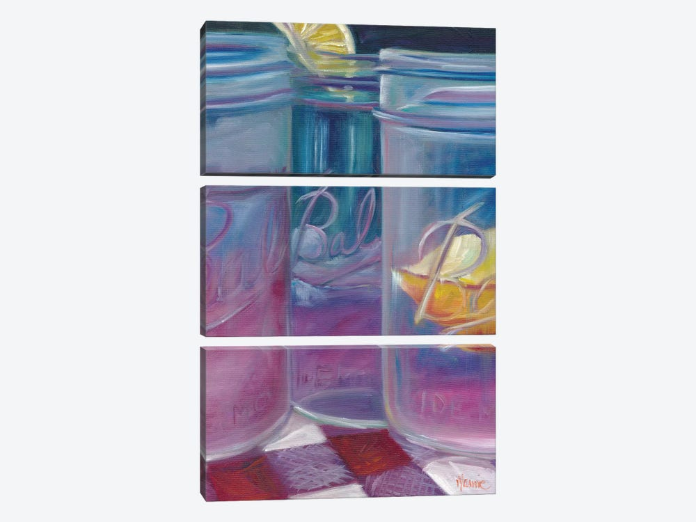 Lemonade, A Most Refreshing Drink by Marnie Bourque 3-piece Canvas Art