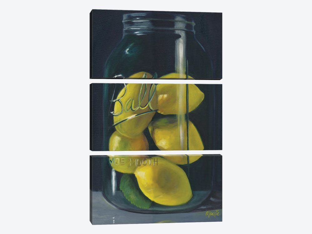 Lemons by Marnie Bourque 3-piece Canvas Print