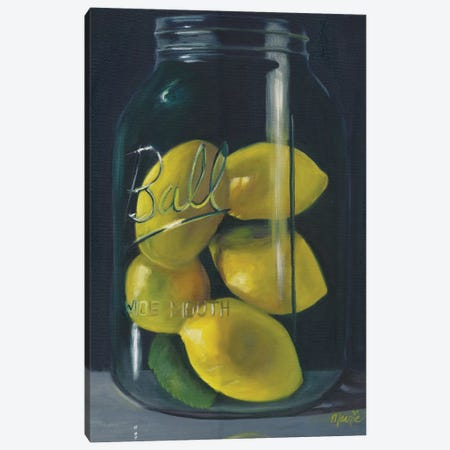 Lemons 3-Piece Canvas #BOU52} by Marnie Bourque Canvas Art Print