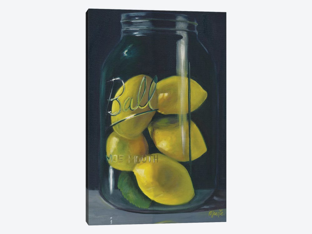 Lemons by Marnie Bourque 1-piece Canvas Print