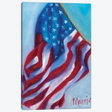 Long May She Wave Canvas Print #BOU55} by Marnie Bourque Canvas Artwork