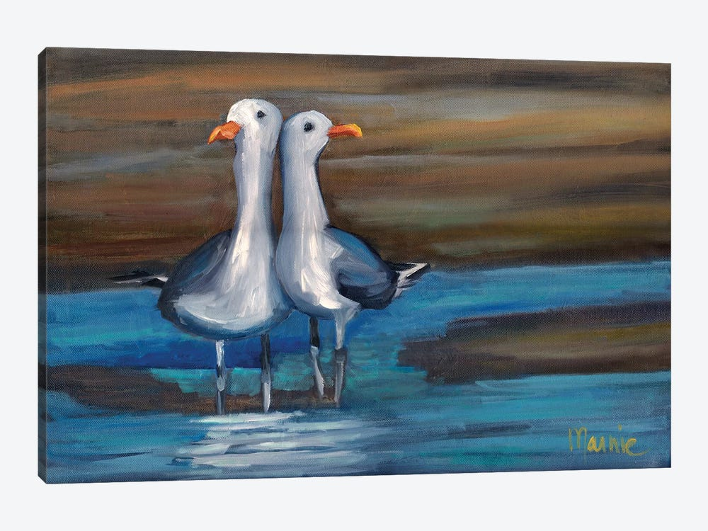 Lovebirds I 1-piece Canvas Artwork