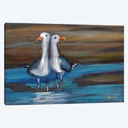 Lovebirds I Canvas Print #BOU60} by Marnie Bourque Canvas Art