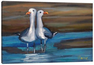 Lovebirds I Canvas Art Print
