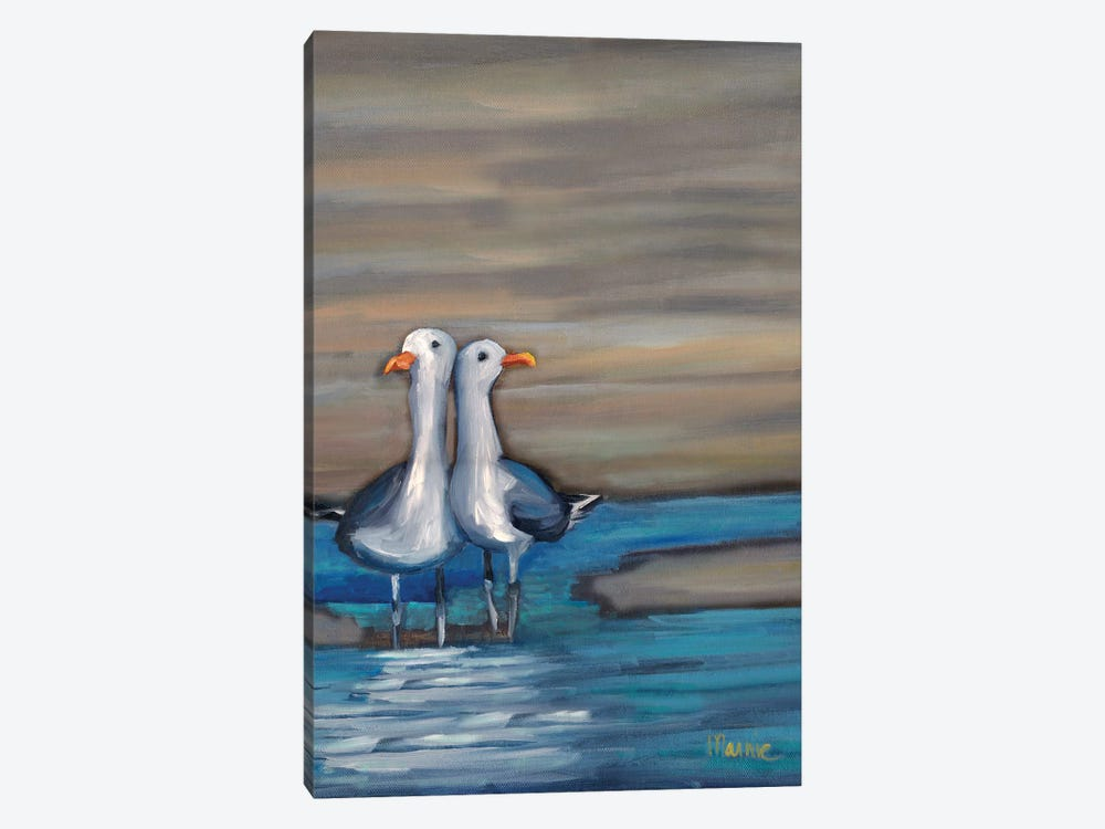 Lovebirds II by Marnie Bourque 1-piece Canvas Print