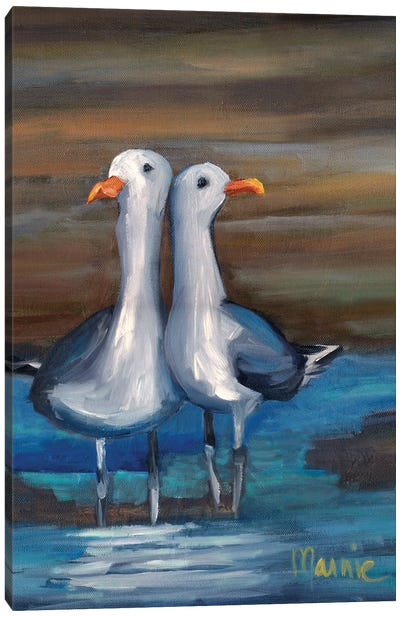 Lovebirds II, Detail Canvas Art Print