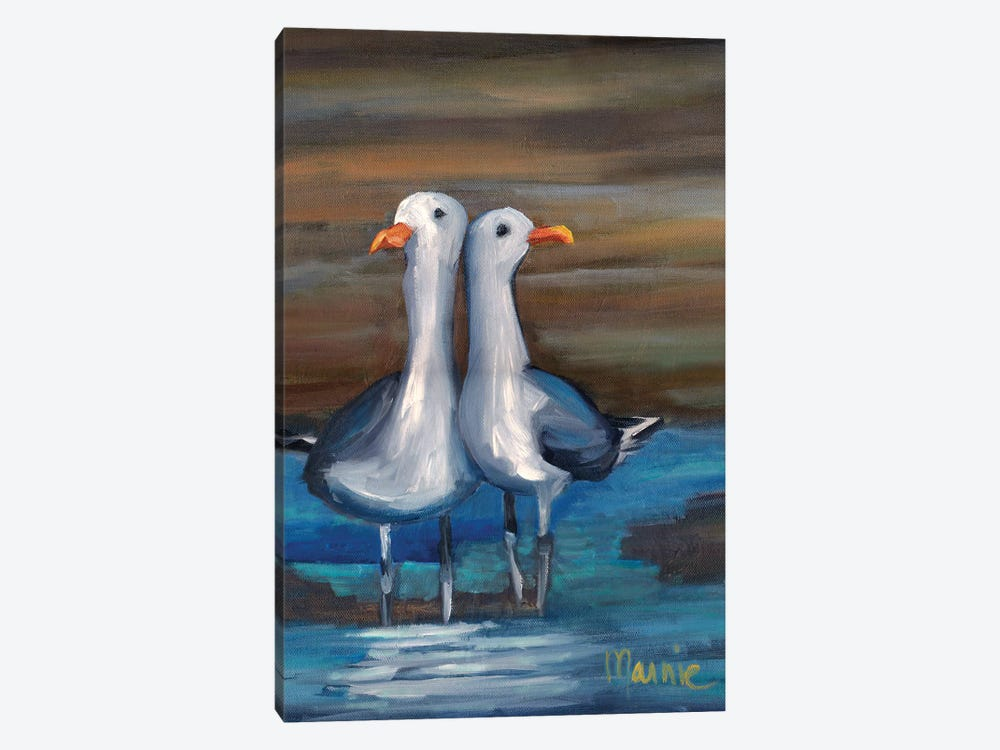 Lovebirds II, Detail by Marnie Bourque 1-piece Canvas Wall Art