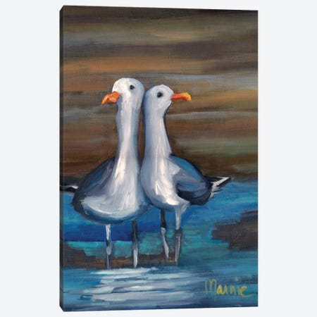 Lovebirds II, Detail 3-Piece Canvas #BOU62} by Marnie Bourque Canvas Art