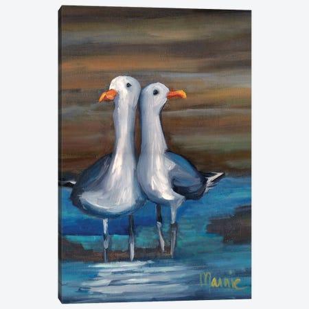 Lovebirds II, Detail Canvas Print #BOU62} by Marnie Bourque Canvas Art