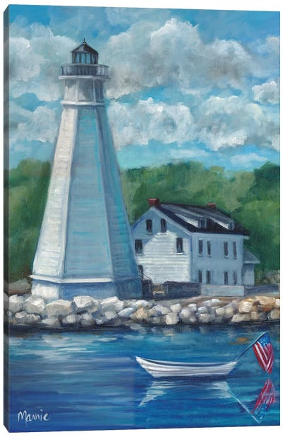 New London Lighthouse Canvas Art Print